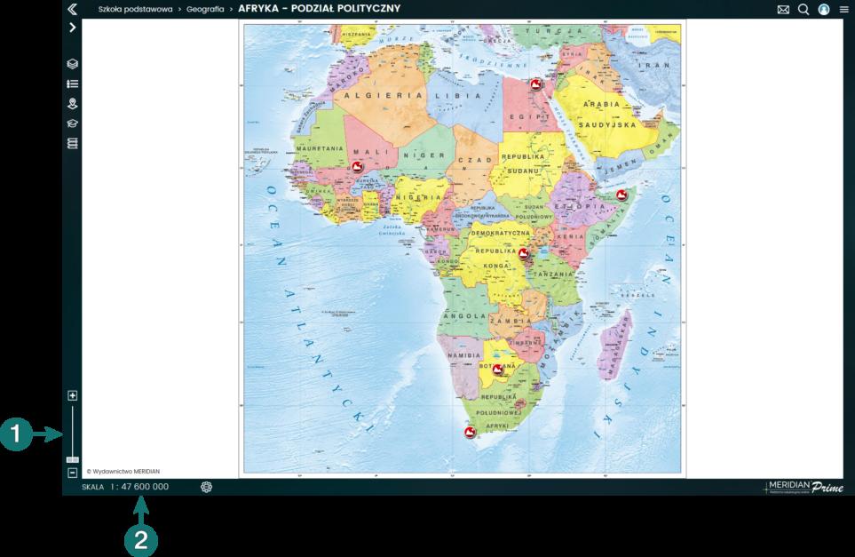 Powiększanie i pomniejszanie mapy