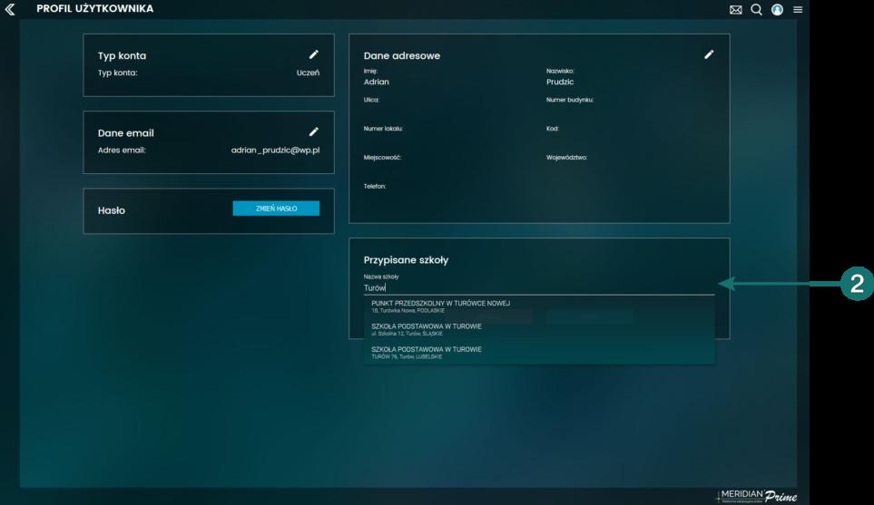 Zarządzanie profilem - widok dla użytkowników indywidualnych