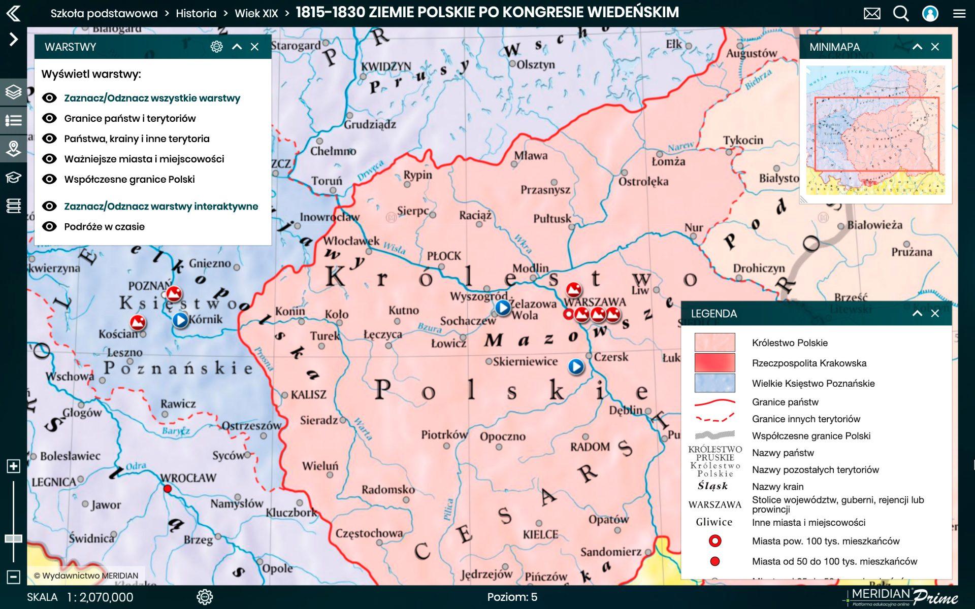 1815 1830 Ziemie pols po Kongresie Wieden