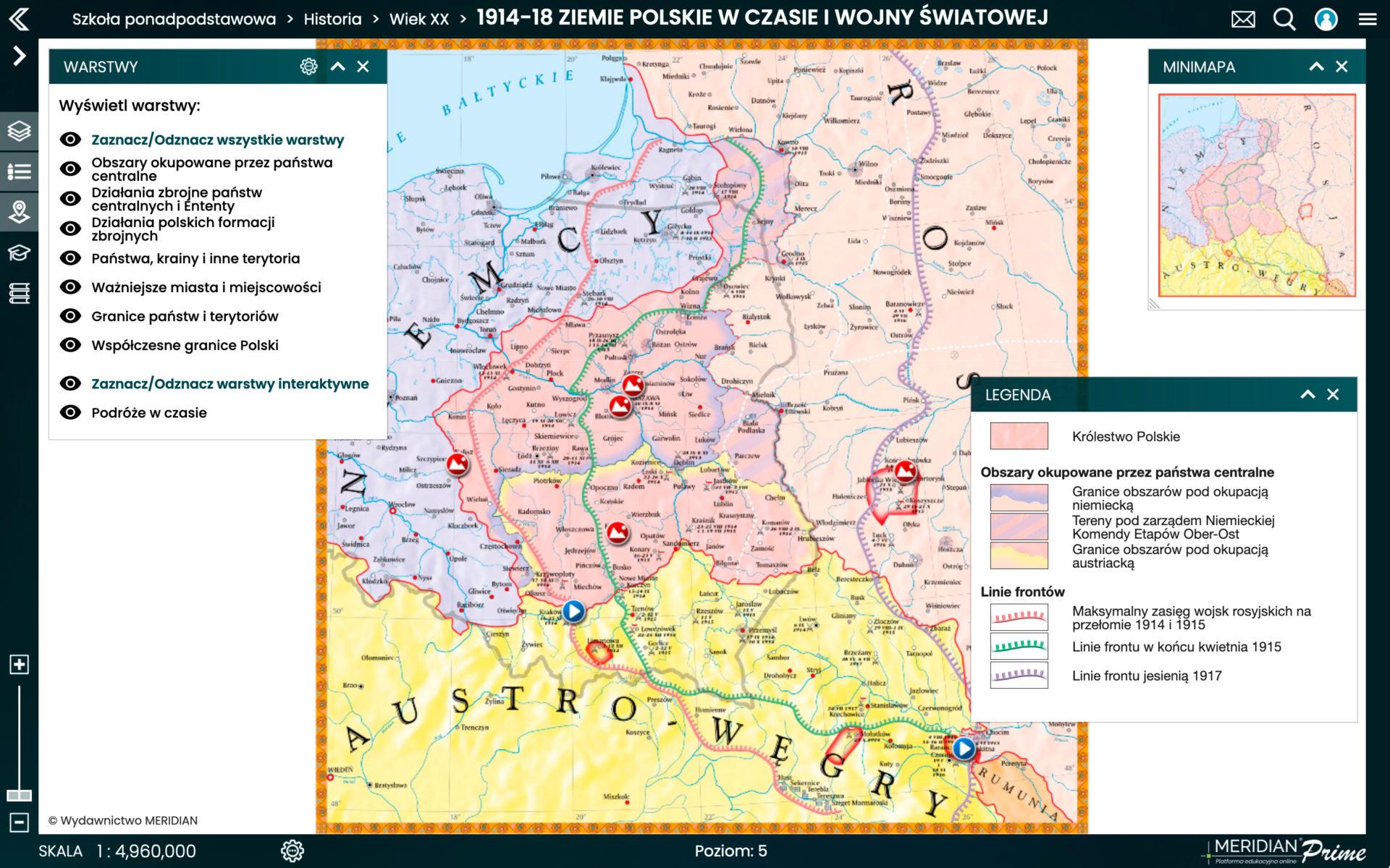 1914-1918 Ziemie polskie w czasie I wojny światowej