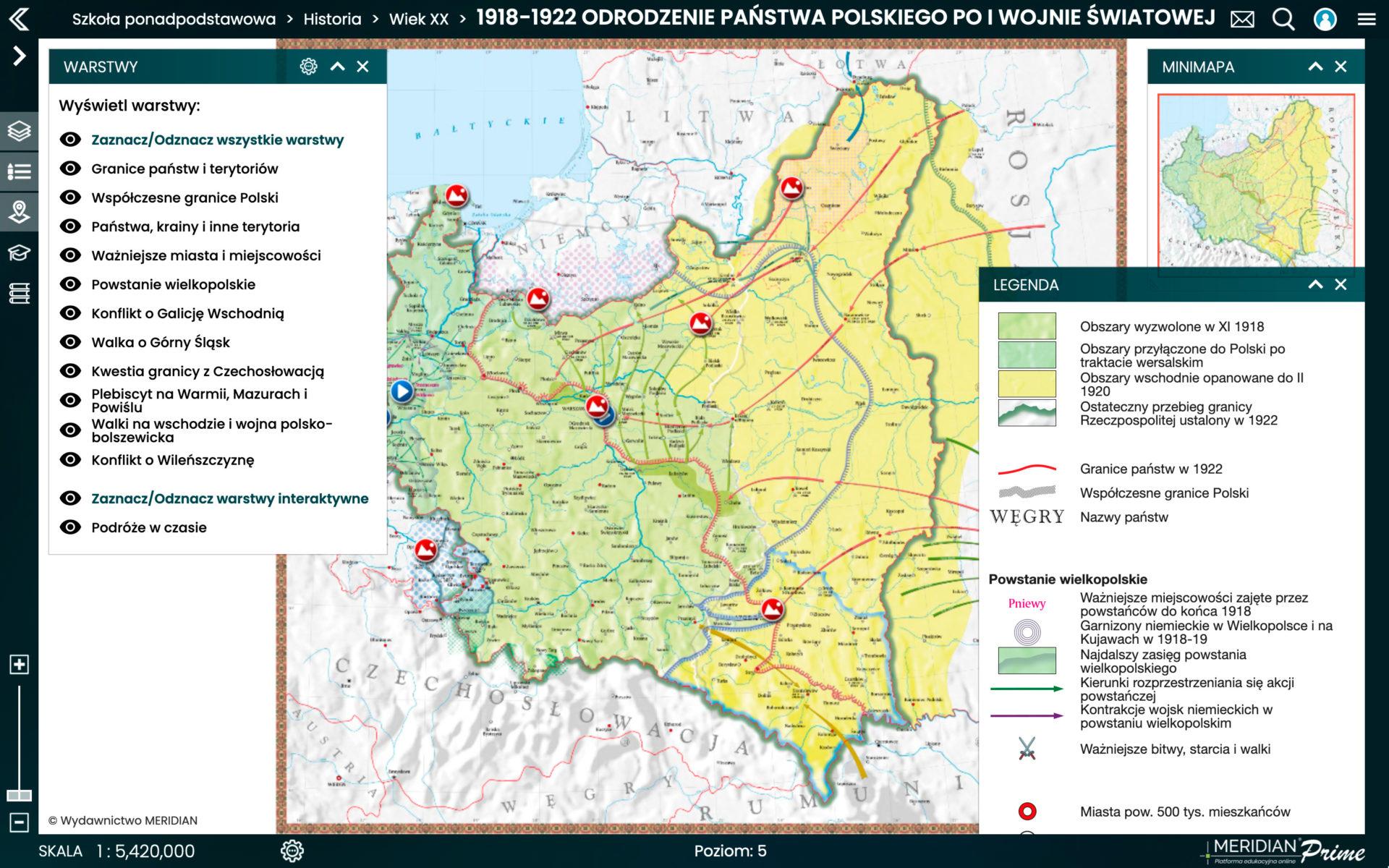 1918-1922 Odrodzenie państwa polskiego po I wojnie światowej