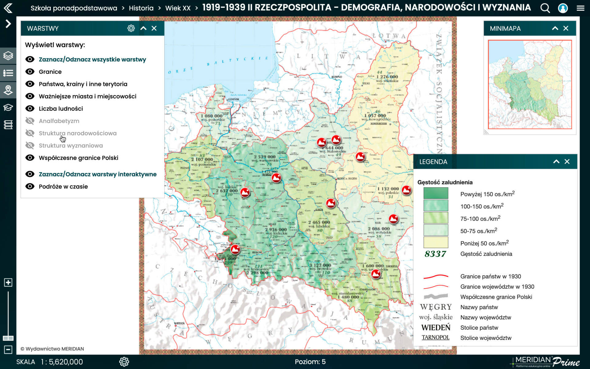 1919-1939 II Rzeczpospolita - demografia, narodowości i wyznania